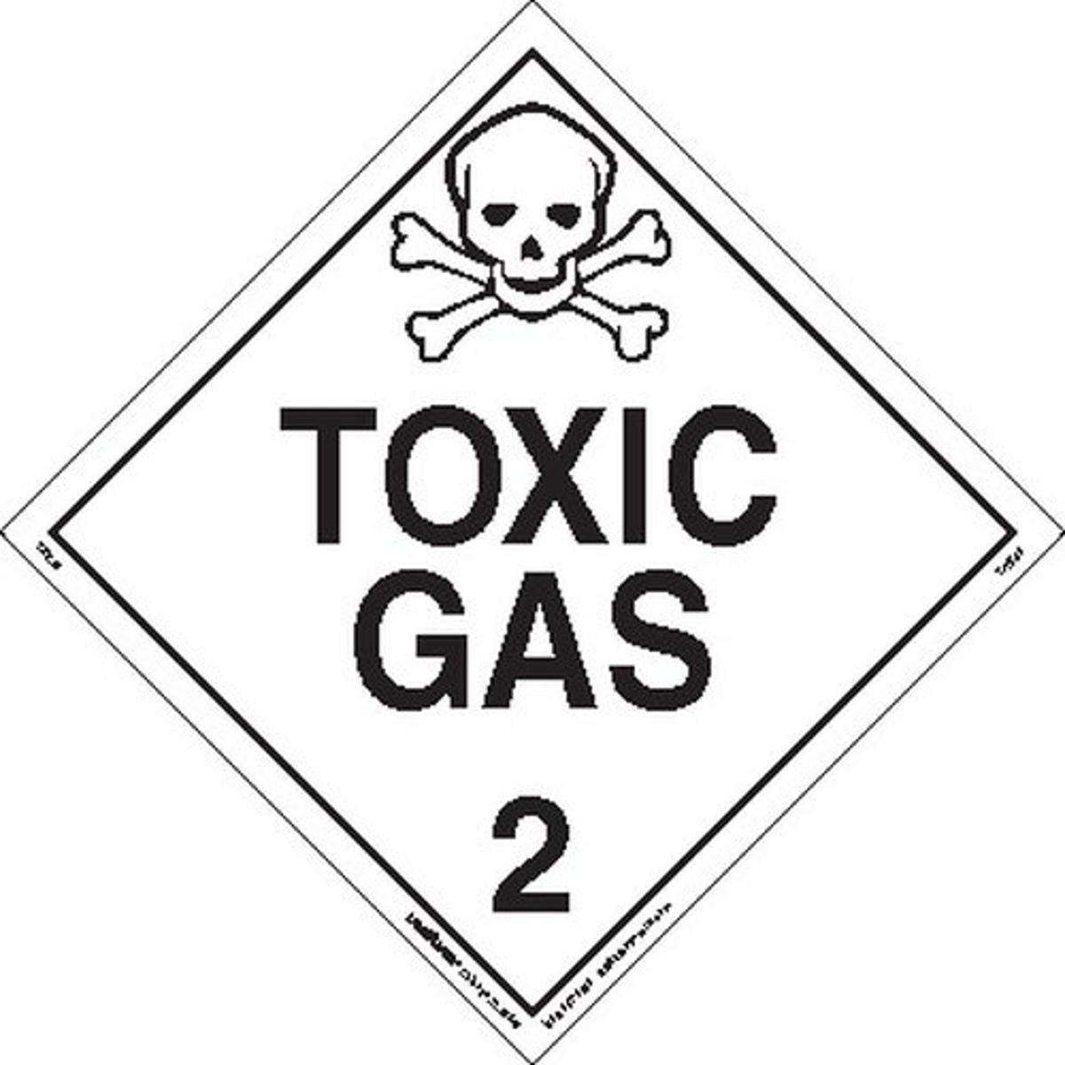 Our shop most popular Labelmaster Z-EZ25 Toxic New Orleans Mall Gas Hazmat Placard E-Z Removab Worded