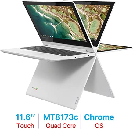 Newest Lenovo 11.6'' 2-in-1 Touchscreen Chromebook HD IPS Display (Quad-Core MediaTek MT8173c 2.1GHz, 4GB RAM, 32GB EMMC, Bluetooth, HDMI, Type-C, HD Webcam, White, Chrome OS) Choose Your SD Size