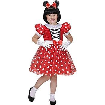 La vendita bambini Rosso Minnie Mouse Disney Classic Ragazze Costume Vestito Da Festa