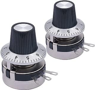 2 pomos A03 Taiss//2pcs 3590S Potenci/ómetro de Precisi/ón de Alambre Rotatorio de 10 vueltas 10 anillas de Resistencia Ajustable 3590S-2-104L 100k ohm Potenci/ómetro de Cableado de Precisi/ón