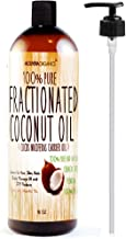 Molivera Organics Fractionated Coconut Oil 16 oz. Premium Grade A, 100% Pure MCT Coconut Oil for Hair, Skin, Massage and A...