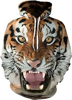 Boy's Hoodies Sweatshirt Unisex Teens Hooded Pullover Winter 3D Tiger Design Print