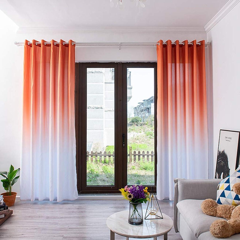頼る吐き出す毒性WBinplSE 薄手のカーテンチュールウィンドウトリートメントボイルドレープバランス1パネルファブリック、寝室、リビングルーム、キッチンルーム、家の装飾として(270cm x 100cm、ポリエステル) (オレンジ)