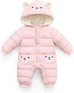 Kombinezon dziecięcy z kapturem, śpioszki, dla chłopców i dziewczynek, zimowy, zimowy, ciepły, długi rękaw, prezent 0-24 m...