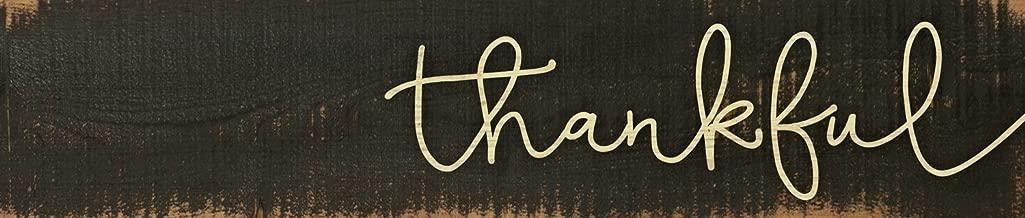 GRAHAM DUNN Be Grateful Typewriter Design 3 x 12 Inch Solid Pine Wood Farmhouse Stick Sign P