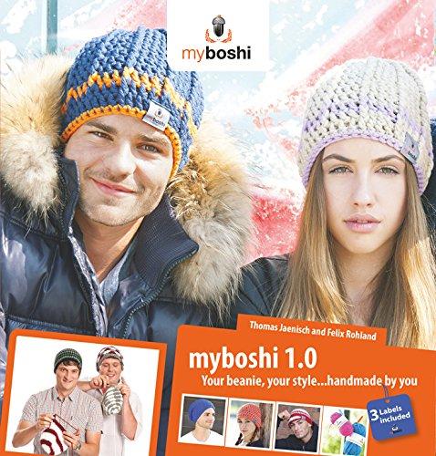 Myboshi 1.0–Beanie-Häkelmützen-Design-Buch–mit 3Etiketten