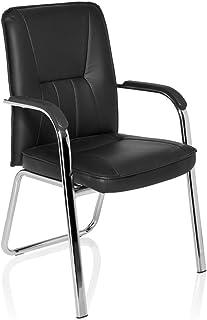 HJH Office 706400 BANDA - Silla de confidente, piel sintética, color negro