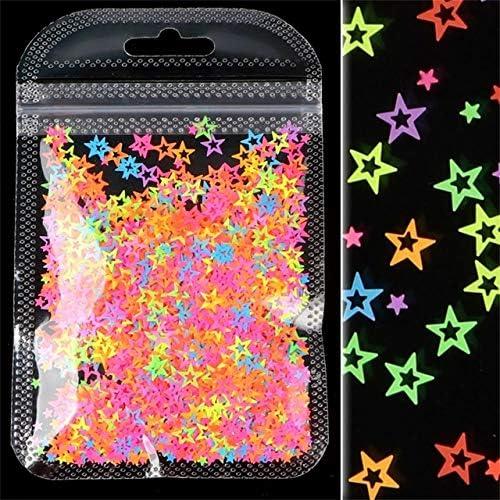 Cheap sale 1 Box Luminous Sequins Paillette Fluorescent Flakes ...