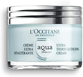 L'Occitane Moisturizing Water-Based Aqua Reotier Ultra Thirst-Quenching Cream Enriched with Hyaluronic Acid, Net Wt. 1.7 oz.