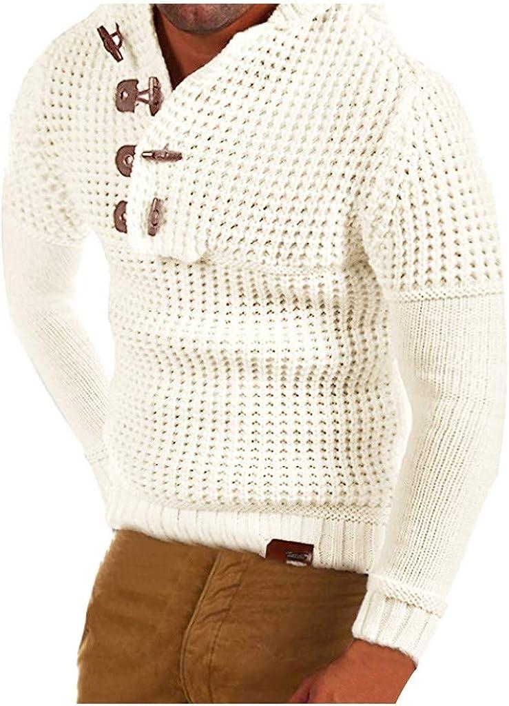 Men's Pullover Hoodies Sweater Long Sleeve Knitwear Top for Autumn Winter