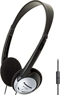Panasonic Lightweight On-Ear Headphones with XBS and Microphone - RP-HT21M (Black & Silver)