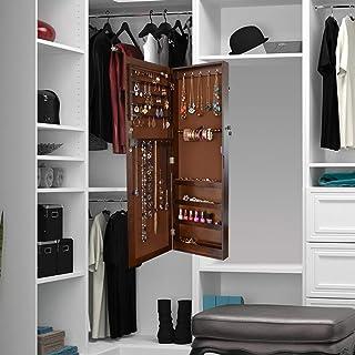 Blanc L x l x H yorten Armoire /à Bijoux Murale avec Miroir Rangement Stockage Chambre Maison 30 x 8 x 60,5 cm