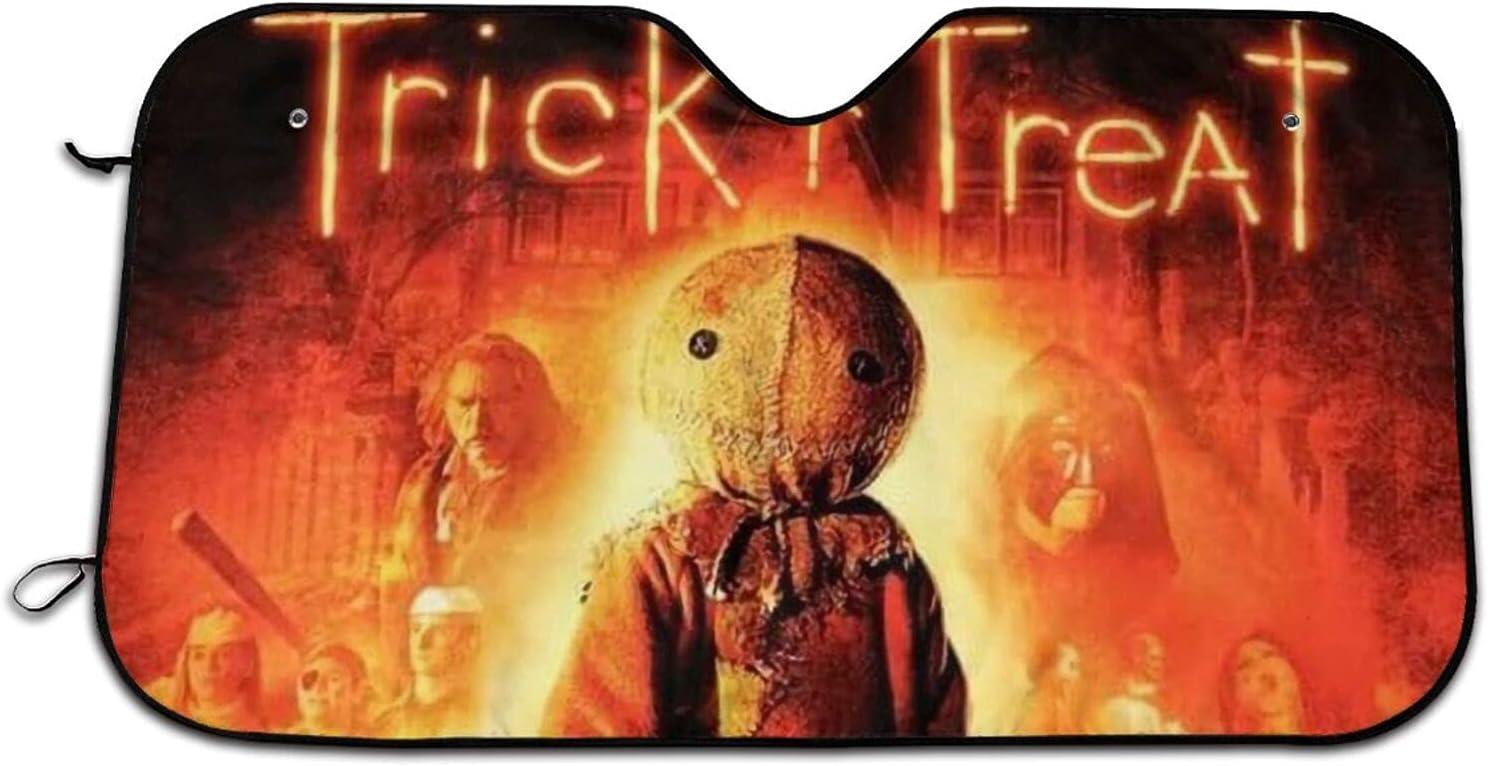 Trick Max 87% OFF 'R- Treat Horror Movie Car Omaha Mall Sno Visor Sunshade Printing
