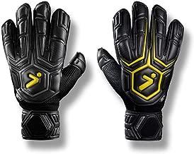 Storelli Gladiator Elite 1 Goalkeeper Gloves  Soccer Equipment   Sweat-Wicking Black (Renewed)