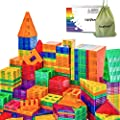 Compatible Magnetic Tiles Building Blocks STEM Toys for 3+ Year Old Boys and Girls Learning by Playing Montessori Toys Toddler Kids Activities Games - 102pcs Advanced Set by Soyee