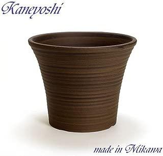 鉢 三河焼 KANEYOSHI 【日本製/安心の国産品質】 陶器 植木鉢 三河焼 ローズ ブラウン 10号