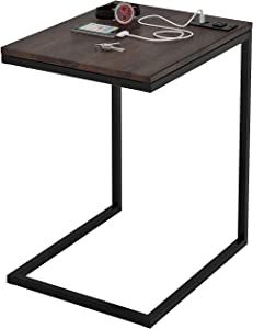 Z-Line Designs Tech C End Table, Black