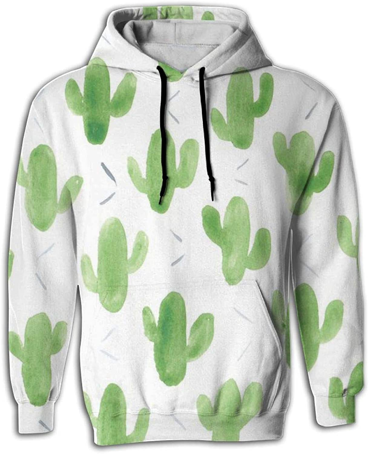 Unisex 3D Fun Print Sweaters With Pockets Hoodie Green Cactus Hot Sales 50% Off Autumn Casual Fashion Hip Hop Sports Hoodie
