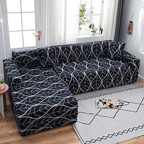 PPMP Funda de sofá elástica elástica, Utilizada para la Funda de sofá de Spandex de la Sala de Estar, Funda de sofá, Toalla de sofá elástica, Forma de L, Funda de sofá A9 de 2 plazas
