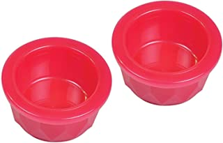Van Ness 2 Pack of Translucent Heavyweight Crock Dishes, Midget, for Small Pets, Assorted Colors