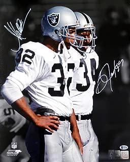 Bo Jackson & Marcus Allen Autographed 16x20 Photo Oakland Raiders Beckett BAS