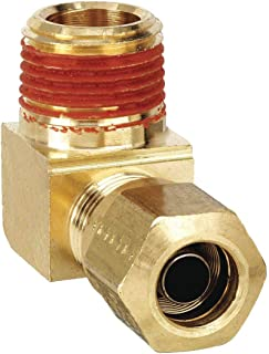1//4 and 1//8 Compression Run Tee Tube to Pipe Forged Brass Parker 171CA-4-2 Compress-Align Compression Fitting