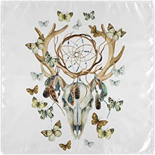 YYZZH Deer Skull Skeleton Dream Cather Butterfly Tribal Ethnic Dreamcatcher Feather 20
