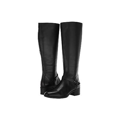 Bandolino Bloema Wide Calf Boot (Black Leather) Women