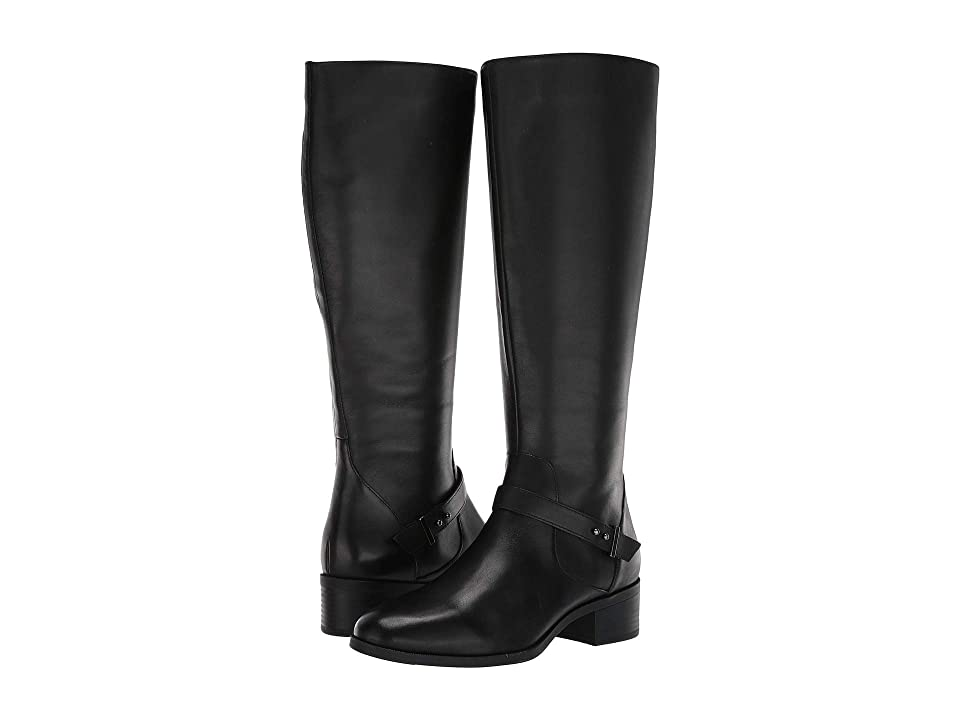 Bandolino Bloema Wide Calf Boot (Black Leather) Women