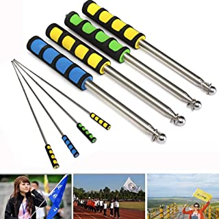 Vanselonsa 1.2 Meters Outdoor Flagpole Stainless Steel Telescopic Flag Pole Tour Guide Banner Flagstaff - StickerCoffee Dance Platform Clothing Cake Dash Cutter Doll Clothes Outfits