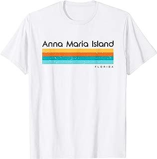 Vintage Anna Maria Island Florida FL Retro Design T-shirt