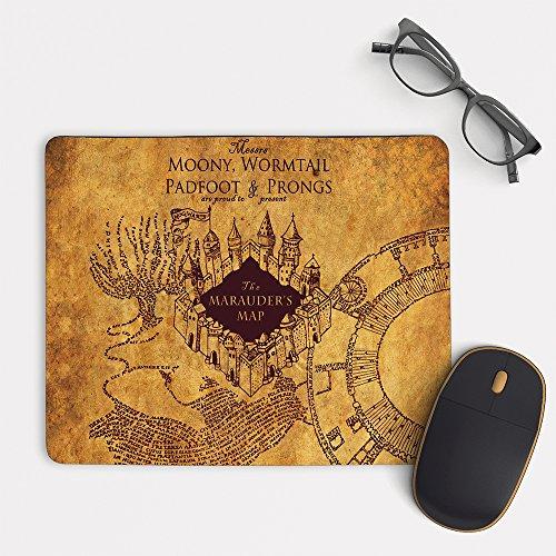 Alfombrilla de ratón con diseño de mapa de merodeadores de Harry Potter MP-0099 (rectangular, 20,3 x 15,7 cm)