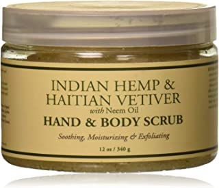 Nubian Heritage Hand and Body Scrub, Indian Hemp Haitian Vetiver, 12 Ounce