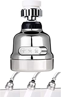Amener Movable Kitchen Tap Head Moveable 360 degree Rotable Water Saving Faucet Nozzle Filter Sink Areator Flexible Diffusser (Silver)