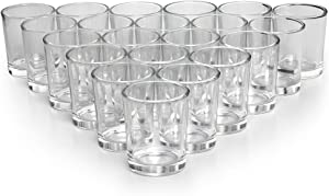 LETINE Glass Votive Candle Holders Set of 72, Clear Tealight Candle Holder Bulk, Ideal for Wedding Centerpieces and Home Decor