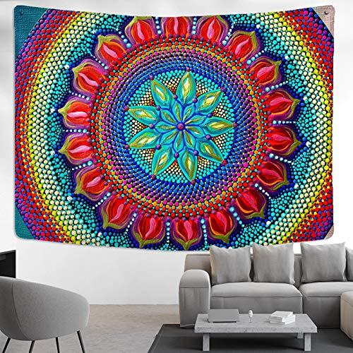 N/A Tapiz De Impresión 3D Tapiz De Mandala Colorido para Colgar En La Pared Diseño Creativo Tienda De Campaña Colchón De Viaje Almohada Bohemia Tapicería para Dormir