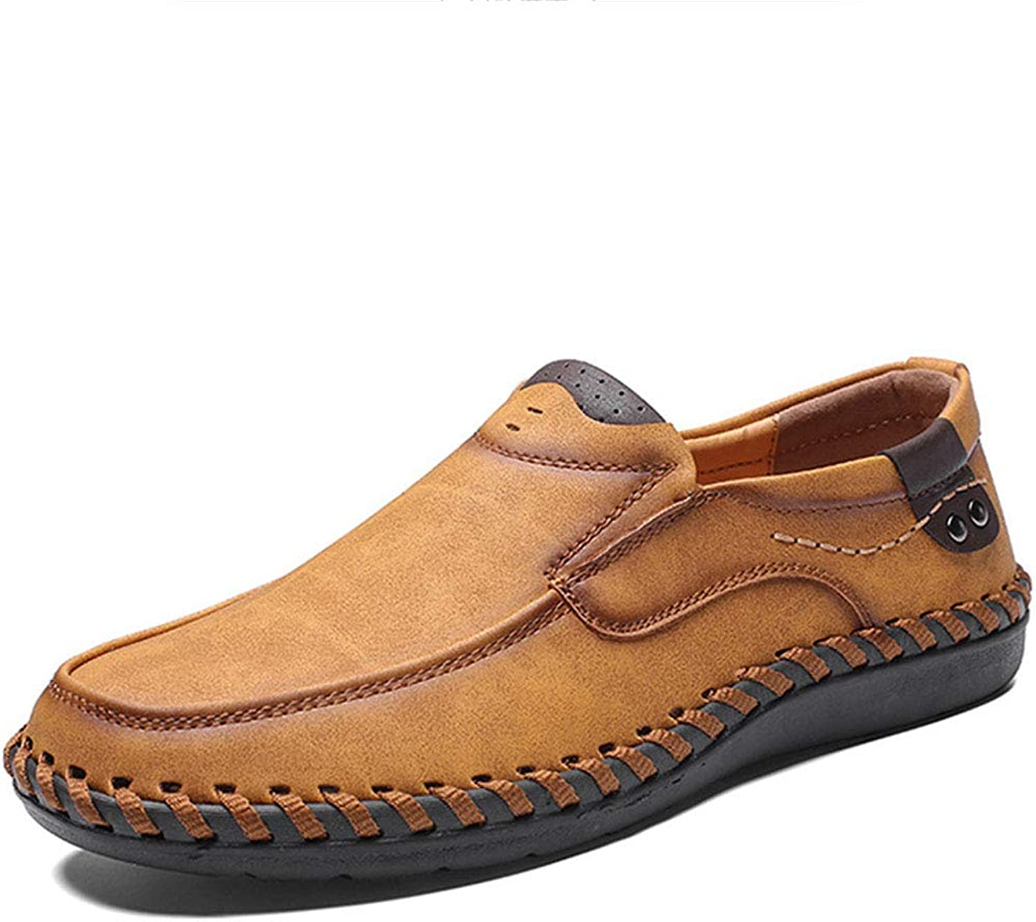Men's Leather shoes Autumn Driving shoes Handmade Casual shoes Wild Peas shoes