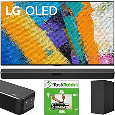 LG OLED65GXPUA 65-inch GX 4K Smart OLED TV with AI ThinQ (2020) Bundle SN5Y 2.1 Channel High Res Audio Sound Bar with DTS Virtual:X and Taskrabbit Installation Service + Wall Mount Kit from LG