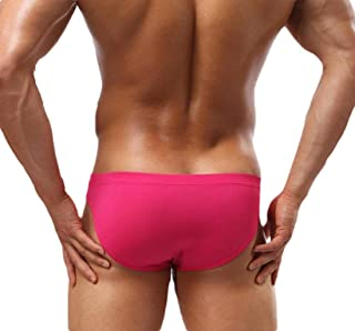 Mens Sexy Bikini Briefs Breathable Seamless Ice Silk Panties