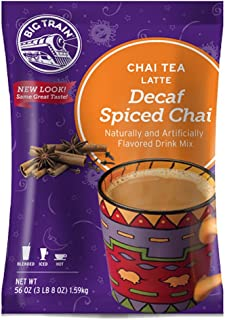 Big Train Chai Tea Latte Decaf Spiced 56 Ounce Powdered Instant Chai Tea Latte Mix, Spiced Black Tea with Milk, For Home, CafÃ, Coffee Shop, Restaurant Use