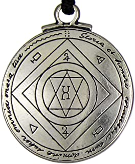 1 Pc Pewter Pendant Jewelry Talisman for Good Luck Seal of Solomon Amulet Hermetic Kabbalah Necklace