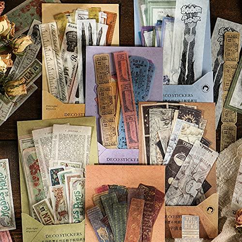 Pegatinas de Poesía Manualidades, 240 Pcs Scrapbooking Pegatinas, Stickers Para Scrapbook DIY Decoración Diario Agenda Álbumes de Recortes Calendarios Tarjetas de Felicitación Regalos
