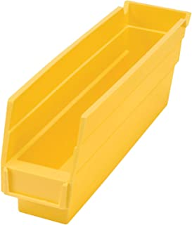 "$61 » One Stop Shop Stacking Storage Drawer Organizer Rack - Plastic Stacking, Nestable, Hanging Parts Bin, 2-3/4""W x 11-5/8""D x 4"" H, Yellow, 24 Pack"