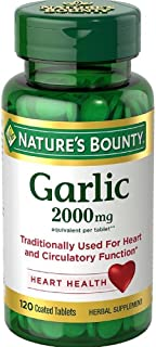 Nature's Bounty Garlic 2000mg, Tablets 120 ea (Pack of 6)