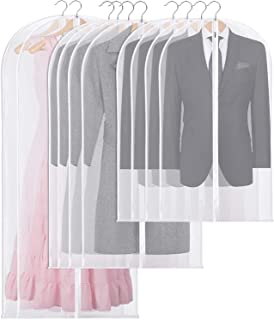 Rendcqin Housses de Vêtements, 10 Pcs Lavable Housse Vetement Transparent avec Fermeture à Glissière, Housse de Costume po...