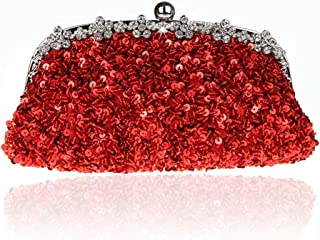 ETH Fashion Handmade Red Beaded Bag Evening Bags In Europe And America Exquisite Bride Bag Chain Bag Clutch 26CM * 3CM * 13CM Hand Bag