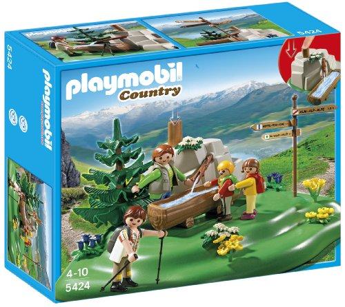 Playmobil Vida en la Montaña - Familia mochilera en la montaña, Juguete Educativo, 30 x 10 x 25 cm, (5424)