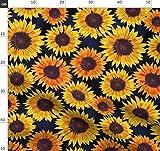 Sonnenblume, Sonnenblumen, Sommer, Gelb, Blumen Stoffe -