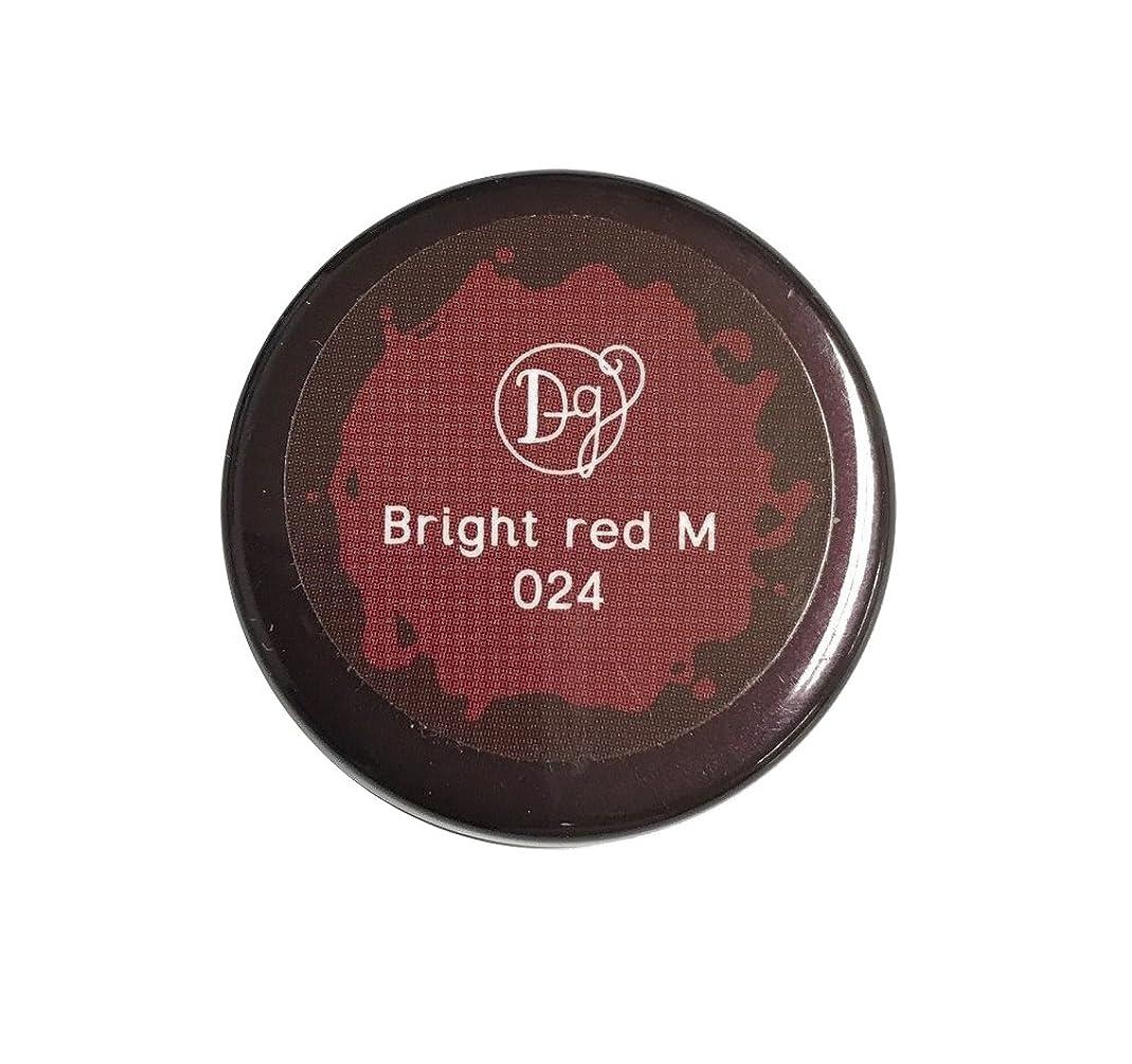 メドレー荒涼とした強化するDECORA GIRL カラージェル #024 ブライトレッドミディアム