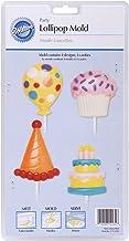 Wilton Lollipop Mold Birthday, 4-Cavity/4 Designs